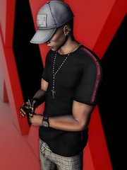 ☠ BURNING (Shock Q'Kell) Tags: secondlife sl lelutka head guy mesh bento signature body gianni realevil rings swallow necklace rosary tmd event vanity vanityevent hxnor cap hat snapback equal10 youneed backdrop stun stunposes bloggers slbloggers moda slmoda photo slphoto style fashion picture slpicture mel men man boy mainstore store tredent cigar
