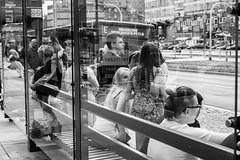 untitled (gregor.zukowski) Tags: katowice street streetphoto streetphotography peopleinthecity candid urban blackandwhite blackandwhitestreetphotography bw reflections publictransport fujifilm