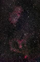 Heart & Soul (Christoph Wenzel) Tags: nacht deepsky meyeroptikgörlitz seelennebel nebel herznebel sonyalpha6000 halpha orestegor4200 manuell sterne dunkelheit langzeitbelichtung infrarot schleiernebel astro neuhausamrennweg thüringen deutschland lenstagger astrometrydotnet:id=nova3734967 astrometrydotnet:status=solved