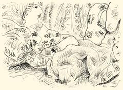 In bed 20191111 (danielborisheifetz) Tags: art drawing pencil portraiture portrait female
