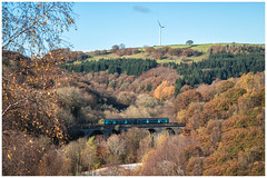 Golden valley (Mark Gowing) Tags: class150 dmu passengertrainonviaduct bargoedviaduct southwales