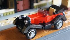 Vintage Citroen car in Malaya (gan.marco) Tags: marcogan vintagecarinmalaya lego car moc citroen red history