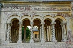 Pillars (Croydon Clicker) Tags: pillars entrance corridor carving masonry arches architecture church wilton salisbury wiltshire nikon nikkor