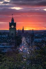 Colorful sunset. Edingburgh, Scotland. (Gitanomismo) Tags: 2029 pasisajes viajes
