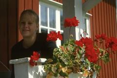 Therese på Fifång år 2000 (gustafsson_jan) Tags: fifång sörmland sörmlandskusten skärgård skärgårdsö archipelago archipel theresegustafsson pelargonier