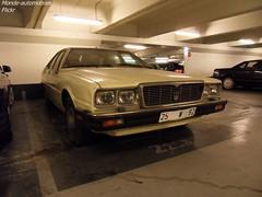 Maserati Quattroporte III (Monde-Auto Passion Photos) Tags: voiture vehicule auto automobile cars maserati quattroporte berline beige ancienne classique rare rareté collection parking sousterrain foch france paris