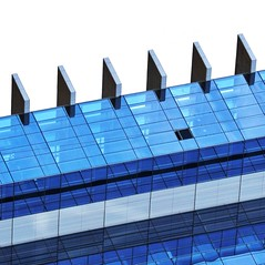 Architectural Abstract (2n2907) Tags: abstract architecture glass office building windows skyscraper graphic geometric geometry pattern lines balconies blue translucent transparent