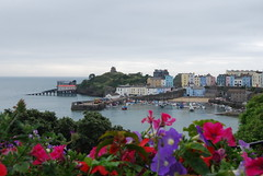 Tenby (Halliwell_Michael ## Offline mostlyl ##) Tags: tenby2019 2019 nikond40x wales tenby harbour flowers boats landscapes seascapes lifeboatstation pembrokeshire sea