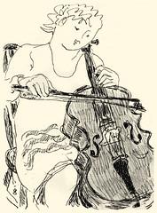 Cellist 20191111 (danielborisheifetz) Tags: art drawing pencil portrait female cello cellist