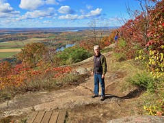 Day 16 - Returning to Calgary from Halifax, with a stopover in Ottawa - Larry at a viewpoint on Mount King (benlarhome) Tags: ottawa gatineau ontario quebec canada autumn fall