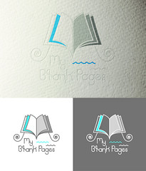 My Blank Pages (eNwitched) Tags: myblankpages enwitched logo design graphic designer grey cyan white brand identity
