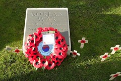 Remember the Korean war as well (Tony Worrall) Tags: remember remembranceday november wartime soldiers manchester greatermanchester sunlit urban welovethenorth nw northwest north update place location uk england visit area attraction open stream tour country item greatbritain britain english british gb capture buy stock sell sale outside outdoors caught photo shoot shot picture captured ilobsterit instragram wreath poppy poppies dead dailyphoto photohour
