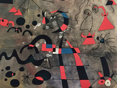 1-16 Miro at MoMA (MsSusanB) Tags: nyc newyork paintings moma exhibition museumofmodernart miro joanmiro escape ladder