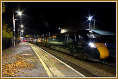 ABOUT TO LEAVE & AUTUMN LEAVES (OLD GIT WITH A CAMERA) Tags: class800 station cheltenhamspa cheltenhamtolondon gwr