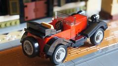 Vintage Citroen car in Malaya (gan.marco) Tags: red history car lego citroen moc marcogan vintagecarinmalaya