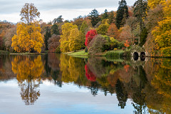 Boat house at Stourhead (PixelPippa) Tags: boathouse stourhead trees reflection nationaltrust autumn colours
