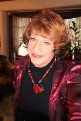 """Just Call Me """"Aunt Laurette"""" (Laurette Victoria) Tags: blouse necklace auburn laurette woman aunt auntlaurette"""