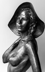 That Perfect Summer (BenBuildsLego) Tags: bronze sculpture statue escultura skulptur sculptor art gallery female nude figurative naked hat beach beautiful artist artistic portrait sensual charleston south carolina