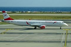 OE-LWJ  NCE (airlines470) Tags: msn 507 erj195lr erj195 austrian airlines nce airport ex lufthansa cityline as daebl oelwj