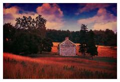 Pennsylvania Landscape at Dusk (kinglear55) Tags: landscape film olympusom10 adobe elements dusk art photography valleyforge