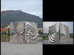 Festplassen. Byparken. Bergen. Norvège (fvib'r) Tags: bergen norvège norway sculpture byparken festplassen