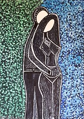 Artwork israeli artists couple drawing by Mirit Ben-Nun (female artwork) Tags: artistic paint painting paintings painter draw drawing drawings woman women feminism femme acrilyc pencils pen markers marker person hand eyes relationship love magical magnetic heart dream friend fantasy main partner soul mate sunshine misterious beautiful complex cultured creative open energetic mirit ben nun people photoadd