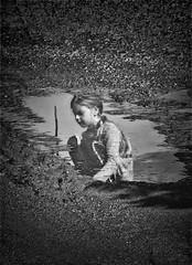 reflected into a puddle (Angelo Petrozza) Tags: reflected magic mirror reflection riflesso blackandwhite biancoenero bw water acqua smcdfa100mmf28macrowr angelopetrozza pentax wall soil terra pozzanghera puddle