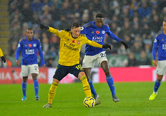 Leicester City v Arsenal (Alex Hannam) Tags: england sport unitedkingdom soccer leicester clubsoccer arsenal leicestercity lcfc leicestercityfootballclub wilfredndidi