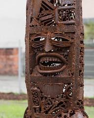 """""""Lost in Südost"""" (Helmut44) Tags: deutschland germany sachsenanhalt magdeburg kunstwerk art kunst workofart skulptur rostig rusty metall metallkunst design ausstellung korrosion bananobot madenmann"""