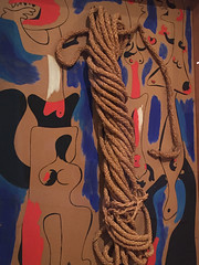 1-14 Miro at MoMA (MsSusanB) Tags: nyc newyork paintings moma exhibition museumofmodernart miro joanmiro people rope