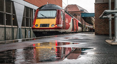 HST, Reflected (SydPix) Tags: 43315 class43 hst doncaster station rain reflections water deluge lner ecml diesel locomotive railways trains sydyoung sydpix