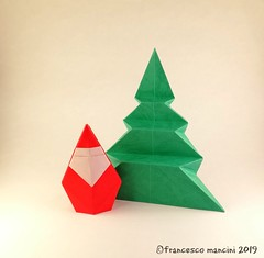 Santa and Fir tree (mancinerie) Tags: origami paperfolding papiroflexia papierfalten francescomancini mancinerie santaclaus christmas christmastree origamisanta origamitree