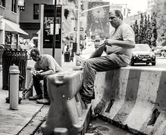 Break in New York City (diego_russo) Tags: streetphotography nyc breaktime diegorusso bn blackandwhite urbanportrait