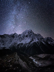 Starlight Moraine (Maddog Murph) Tags: nepal astro milky way moraine thulagi chuli manaslu circiut trek hiking glacial till peak glacier night dark sky photography