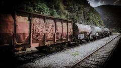 Long may you run ... (vale0065) Tags: train trein wagon boxcar rail spoor spoorweg railway railroad track transport transportation vervoer vervoersmiddel cargo abandoned verlaten roest roestig rust rusty zidanimost trainstation treinstation slovenia slovenië freighttrain goederentrein