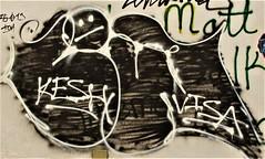 Graffiti. Lower Manhattan. KESH.  MATT. VISA (Allan Ludwig) Tags: graffiti lowermanhattan kesh matt visa