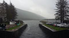 Laggan Locks, Caledonian Canal, Oct 2019 (allanmaciver) Tags: laggan locks caledonian canal thomas telford lochaber trees atmosphere water grey gloomy cars allanmaciver