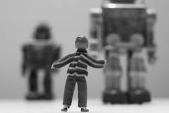 Rise of the Machines # 1 (just.Luc) Tags: robots machine machines boy jongen garçon knabe junge bn nb zw monochroom monotone monochrome bw toys speelgoed jouet jouets toy
