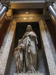 Italy - Rome - Pantheon - Statue (JulesFoto) Tags: italy rome roma pantheon church statue