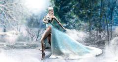 "Frosty nibbling ""CONTEST ENTRY"" (meriluu17) Tags: enchantment fantasy sintiklia frozen snow snowy magic magical surreal people winter queen porait poseidon"