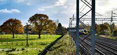 390157 north of Crewe (robmcrorie) Tags: 390157 pendolino virgin trains crewe autumn backlighting nikon d850