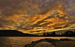 Sunshine on the lake (paul.porral) Tags: flickr ngc soleil coucherdesoleil sun sunshine sunset nature landscape lake waterscape light lightscape sky clouds paysage goldenhour countrysde nuagesetciel