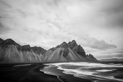 vestrahorn (skarhenrik) Tags: fujifilm xh1 xf16mmf14 blackandwhite iceland mountain landscape sea wave