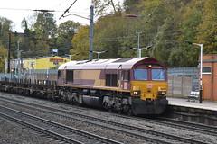 002 Empty (dhcomet) Tags: hitchin herts hertfordshire train engine diesel northward freight 66002