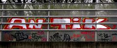 Graffiti in Amsterdam (wojofoto) Tags: amsterdam nederland netherland holland graffiti streetart wojofoto wolfgangjosten throw throwup throwups antik snelweg highway a10
