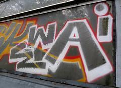 Graffiti in Amsterdam (wojofoto) Tags: amsterdam nederland netherland holland graffiti streetart wojofoto wolfgangjosten throw throwup throwups snelweg highway a10 ewai