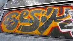 Graffiti in Amsterdam (wojofoto) Tags: amsterdam nederland netherland holland graffiti streetart wojofoto wolfgangjosten throw throwup throwups snelweg highway a10 besik