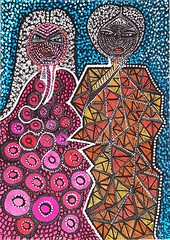 Israeli woman drawing couples by Mirit Ben-Nun (female artwork) Tags: artistic paint painting paintings painter draw drawing drawings woman women feminism femme acrilyc pencils pen markers marker person hand eyes relationship love magical magnetic heart dream friend fantasy main partner soul mate sunshine misterious beautiful complex cultured creative open energetic mirit ben nun people photoadd