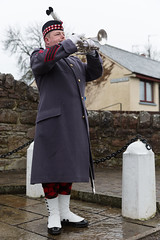 Culbokie Remembers Armistice Day, Black Isle, Scotland (David May) Tags: remembrance poppy least we forget poignant bugle last post soldier royal engineers black isle culbokie highlands water pump pub inn sad reflect peace war hero army navy air force services coat sword kilt highlander putty sergeant non commissioned officer nco bark rank smart uniform gleaming stand attention armistice day explore village fallen troops greatcoat devils skirts age shall weary them salute respect style eleven o'clock november 1918 cromarty auch fortrose rosemarkie findon bridge a9