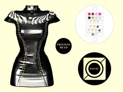 Superstar Dress (FidelioK (HACHE)) Tags: secondlife fashion pvc latex style